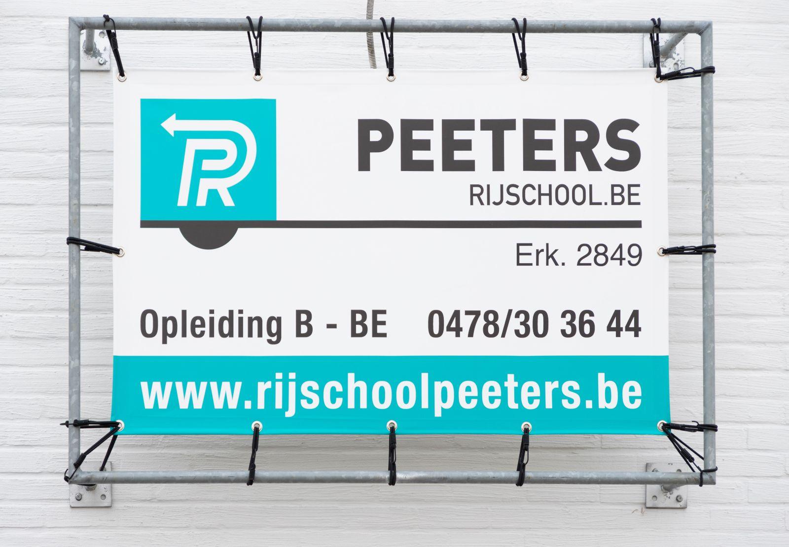 Peeters Rijopleiding banner